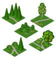 landscape isometric tile set cartoon or game asse vector image vector image