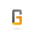 letter g number 6 mobile phone logo icon design vector image