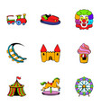 lunapark icons set cartoon style vector image vector image