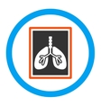 Lungs X-Ray Photo Rounded Icon vector image vector image