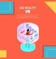 Man wear vr glasses interacting virtual reality