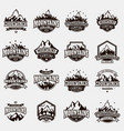 mountain nature travel outdoor logo badge vector image vector image