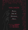 nail salon black luxury template of a poster a vector image vector image