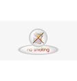 no smoking button vector image vector image