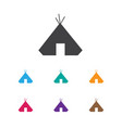 of camping symbol on refuge vector image