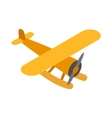 Orange plane icon isometric 3d style vector image vector image