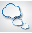 Paper white-blue clouds on grey vector | Price: 1 Credit (USD $1)