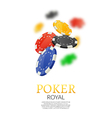 Poker gambling chips poster template Poker game vector image