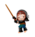 portrait of a girl in kendo fencer vector image vector image