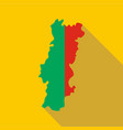 portugal map icon flat style vector image vector image