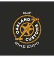 Retro Bike Custom Show Expo Label or Logo vector image vector image