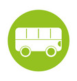 round icon bus cartoon vector image