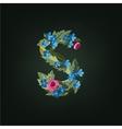 s letter Flower alphabet Colorful font vector image vector image