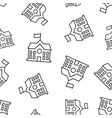 school building icon seamless pattern background vector image vector image