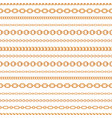 seamless pattern gold chain lines on white vector image