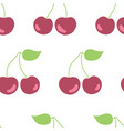 seamless pattern hand drawn cherries vector image vector image