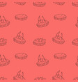 seamless pattern of tartlets vector image vector image