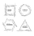 set abstract modern geometric shape banners vector image