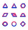 set impossible shapes web design elements vector image