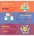 Set of flat design concepts vector image vector image
