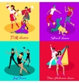 Set Street Folk Dance Jazz and Disco vector image vector image
