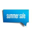 summer sale blue 3d speech bubble vector image vector image