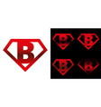 super hero logo letters superhero alphabet vector image