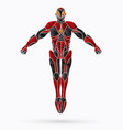 superhero robot action cartoon superhero vector image
