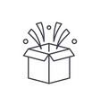 surprise in box line icon concept surprise in box vector image vector image
