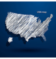 USA map2 vector image vector image