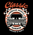 vintage shirt design american muscle garage vector image vector image