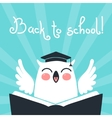 Welcome back to school Card with an owl vector image vector image