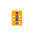 workflow icon simple flat element from design ui vector image vector image