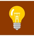 Light Bulb Shape as Inspiration Concept Flat Icon vector image
