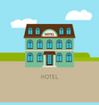 colored urban hotel building vector image