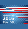 USA Presidential Election 2016 brochure template vector image