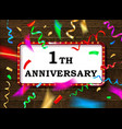 1 anniversary gold numbers vector image