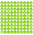 100 keys icons set green circle vector image vector image