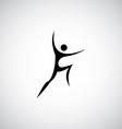 Abstract man symbol logo