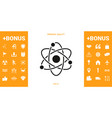 atom symbol - science icon vector image