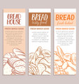 banners with bread product vector image vector image