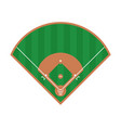 baseball field icon flat field design