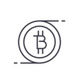 bitcoins technology linear icon sign symbol vector image vector image