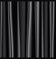 black silk fabric background vector image vector image