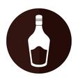 bottle cream whiskey liqueur icon shadow vector image vector image
