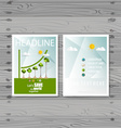Brochure Flyer design Layout template Ecology vector image vector image