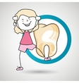 child happy tooth isolated icon design vector image vector image