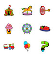 children park icons set cartoon style vector image vector image
