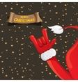 Christmas Rock n roll greeting card vector image vector image