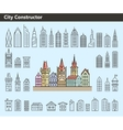 Collection of building icons vector image vector image